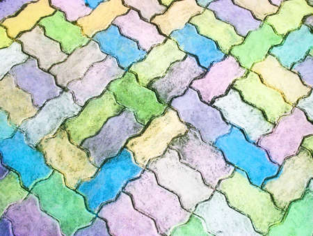 background textures: Colorful cobblestone