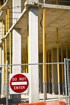 fenced in: A fenced in construction site Stock Photo