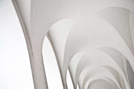 coverings: White arches Stock Photo
