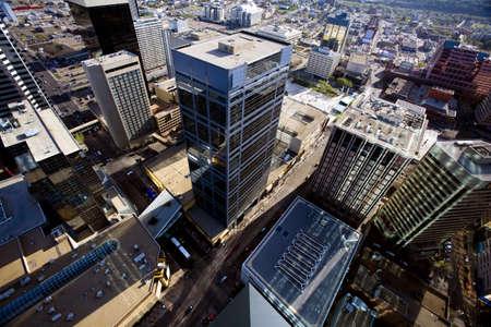 Aerial of downtown Edmonton,Alberta,Canada