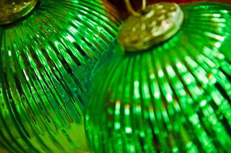 tanasiuk: Two Christmas balls Stock Photo