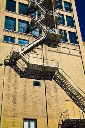 highrises: Stairs on the outside of a building