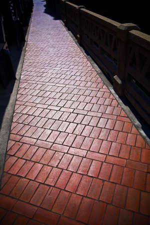 brick: Brick pathway 版權商用圖片