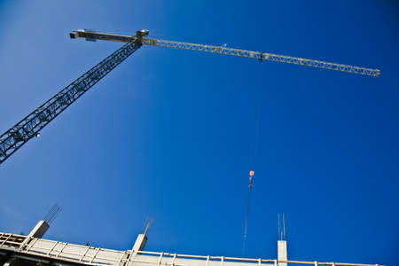 Crane for construction on a building Stock Photo - 8242154