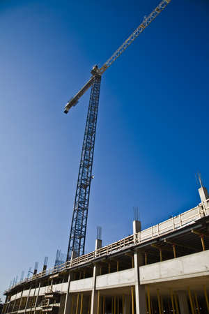 tanasiuk: Crane for construction on a building