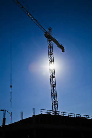 Crane on a construction site Stock Photo - 8242170