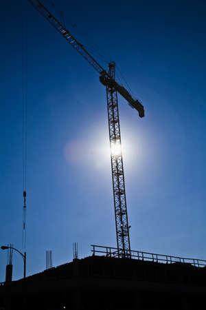 site: Crane on a construction site