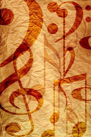 notes musicales: Notes de musique Banque d'images