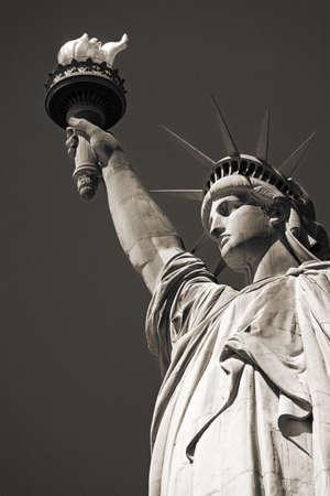 Standbeeld van vrijheid, Lower Manhattan, New York City, New York, Verenigde Staten   Stockfoto