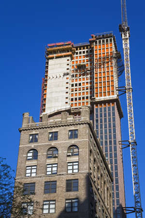 cummins: Skyscraper construction on 5th Avenue, Midtown Manhattan, New York City, New York, USA   Stock Photo
