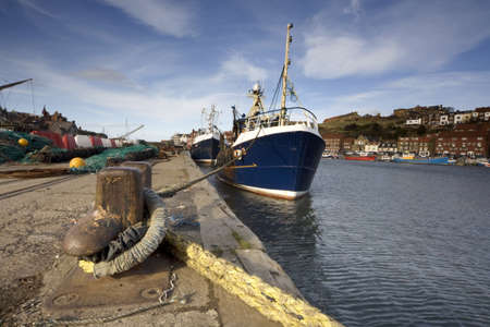 Boat dock, Whitby, West Yorkshire, England Stock Photo - 8242584