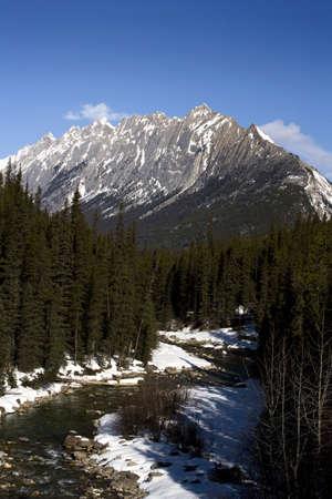Maligne mountains in Jasper National Park, Alberta, Canada Stock Photo - 8243602