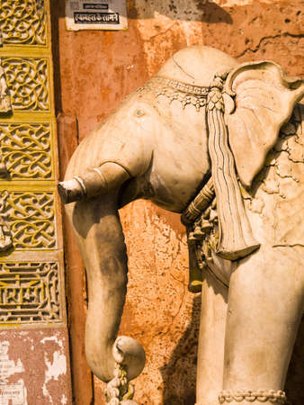 monument in india: Elephant monument, Jaipur, India