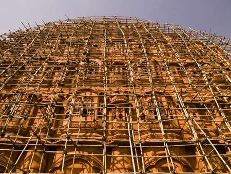 scaffolds: Jaipur, India   Stock Photo