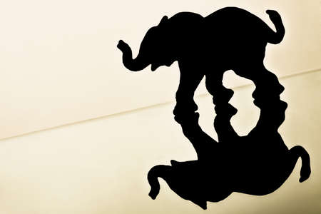 knorr: Silhouette of a elephant