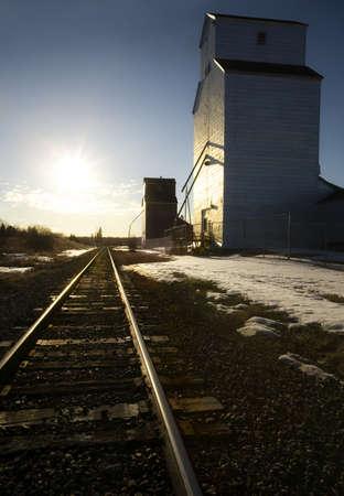 knorr: Grain elevator with railroad tracks