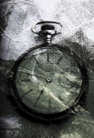 Weathered clock