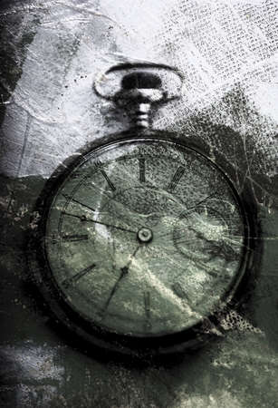 one item: Weathered clock
