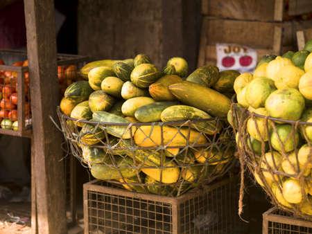 Produce in baskets, Kerala, India   photo