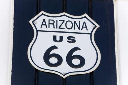 Sign, Route 66 Museum, 빅토 빌, 캘리포니아, 미국 스톡 콘텐츠