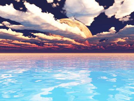 surreal landscape: Exoplanet Exploration - Fantasy and Surreal Landscape. 3D Rendered.