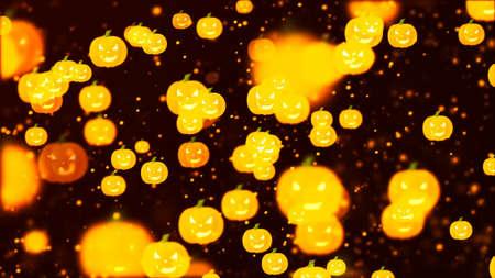 Background with nice halloween pumpkins