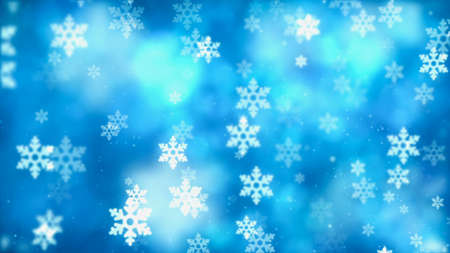 Christmas background with nice falling snowflakes Stock Photo
