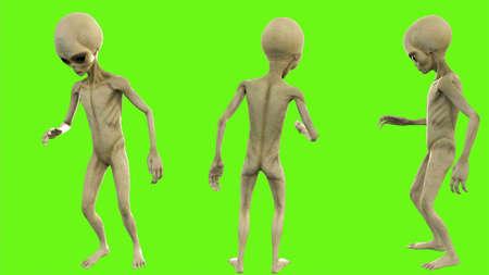 Alien telling a secret.