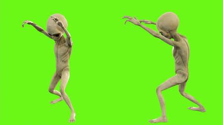Alien walks like a zombie