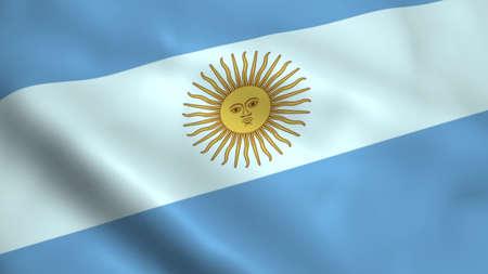 Realistic Argentina flag Stock Photo