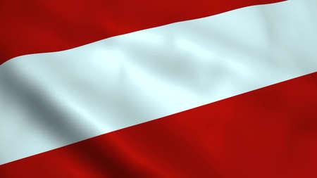 Realistic Austria flag Stock Photo