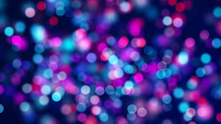 Red blue circle bokeh lights and sparkles