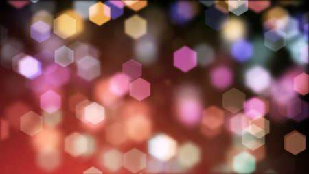 background of blurry hexagonal bokeh