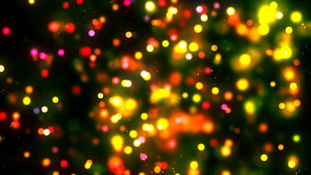 Background with nice glowing golden spark