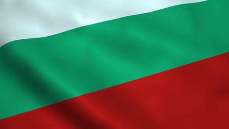 Realistic Bulgaria flag Stock Photo