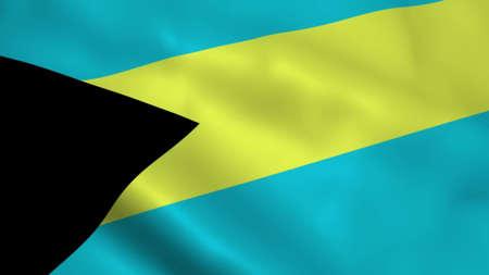 Realistic Bahamas flag Reklamní fotografie