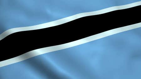 Realistic Botswana flag