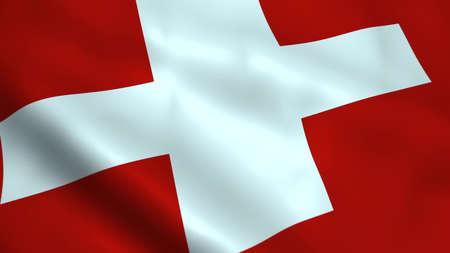 Realistic Switzerland flag 版權商用圖片 - 100426772