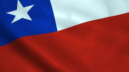 Realistic Chile flag 스톡 콘텐츠