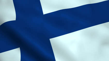 Realistic Finland flag