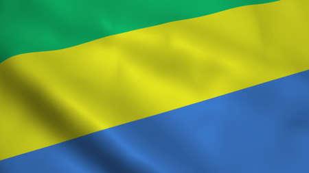 Realistic Gabon flag Stock Photo