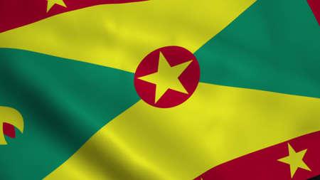 Realistic Grenada flag