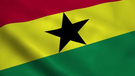 Realistic Ghana flag Stock Photo - 100426132