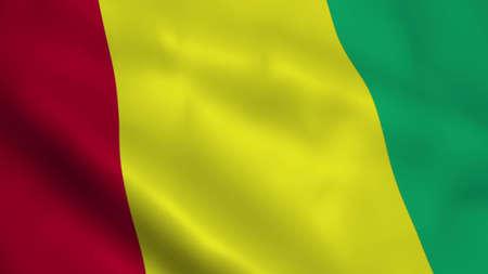 Realistic Guinea flag
