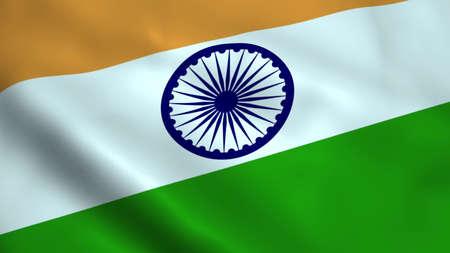 Realistic India flag