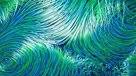 Flowing streaks of light background animation. Stock Photo