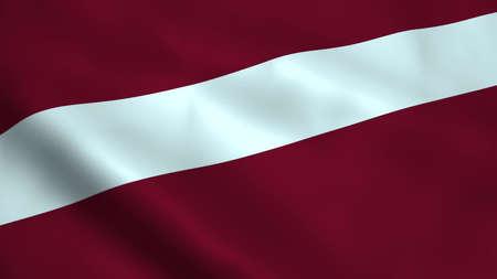 Realistic Latvia flag