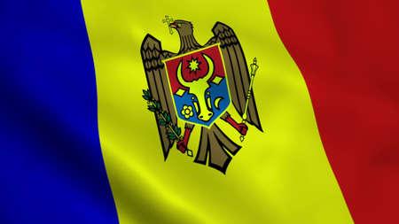 Realistic Moldova flag Stock Photo