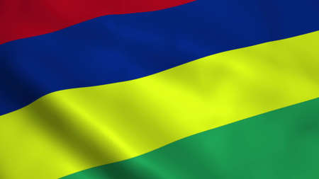 Realistic Mauritius flag Banque d'images - 100468591