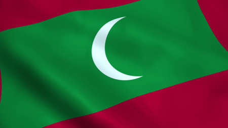 Realistic Maldives flag Reklamní fotografie